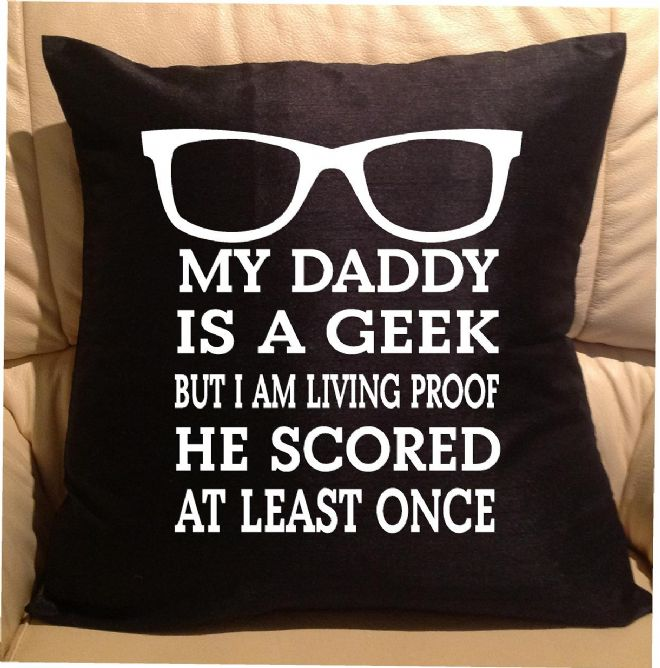 My daddy , sofa cushions